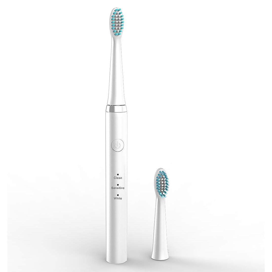 宣教師事前に拾う電動歯ブラシ成人用非充電式家庭用自動ホワイトニングソフトヘア超音波歯ブラシ3スピード調節可能