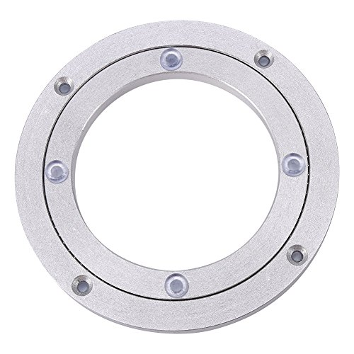 Heavy Duty Aluminium Alloy Rotating Bearing Turntable Round Dining Table Smooth Swivel Plate ( Size:8Inch)