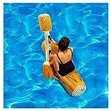Fossenlea Canoa Hinchable Inflable Flotante Juguetes de Piscina Adultos Niño Juegos de Deportes Acuáticos Registro de Balsas para Flotar Juguetes (1PC)