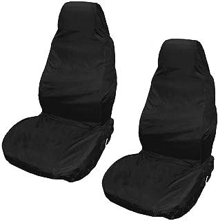 Harddo 2Pcs Autositzbezüge, wasserdichtes Auto vorne/hinten Sitzbezüge reißfestes Gewebe, Universal, schwarz, Heavy Duty