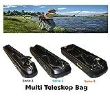 SPORTUBE Multi Teleskop Rutenkoffer Angelrute Hardcase Koffer Trolley Angel Tasche Fische...