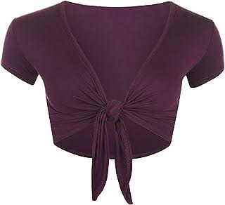 Rimi Hanger Womens Tie Up Bolero Cardigan Crop Top Ladies Short Sleeve Fancy Party Wear Shrug S/XXL