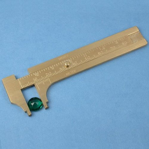 EX ELECTRONIX EXPRESS Brass Gauge Bead Ruler - Measure & Convert Inches/Metric