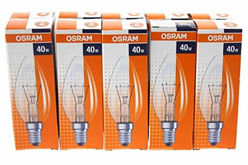 Osram 30800003 E, lampada a incandescenza, Vetro, trasparente, E14 40W