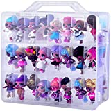 Dolls Toys Storage Organizer Case for LL Surprise OMG Dolls, Calico Critters, LPS Figures, Lego Dimensions and More Mini Dolls Toys - Double Sided 48 Compartment(Box Only No Dolls Included)
