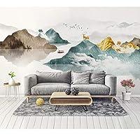 mzznz カスタム3D風景抽象ムード風景リビングルームの寝室の背景壁紙壁画-400X280Cm