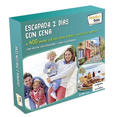 Cofre DE EXPERIENCIAS ESCAPADA 2 DÍAS con Cena - Más de 400 escapadas de 2 días con Cena o Actividad en España