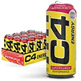 Cellucor C4 Original Carbonated Zero Sugar Energy Drink, Pre Workout Drink + Beta Alanine, Sparkling Strawberry Watermelon Ice, 16 Fl. Oz (Pack of 12)