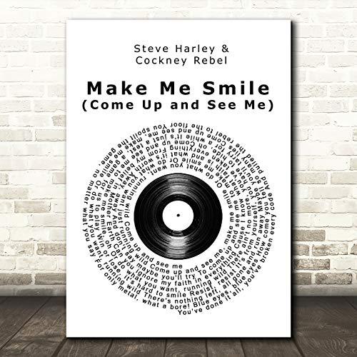 Maak me glimlach (Kom omhoog en zie mij) Vinyl Record Song Lyric Poster Wall Art Print Small A5