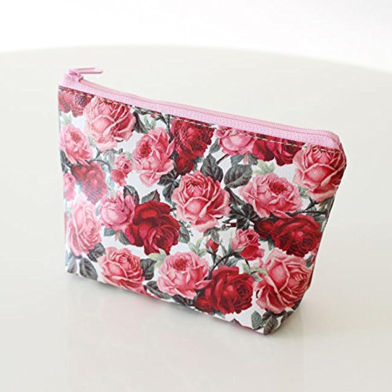 薔薇のポーチ ピンク&レッド Sサイズ