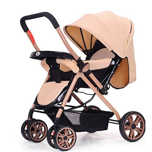 Funzione di Rotazione del Passeggino 360, Carrozzina Passeggino Hot Mom, seggiolino per Bambini del Sistema di Viaggio (Colore: Cachi)