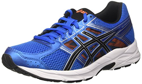 Asics T715N 4390, Zapatillas de Running para Hombre, Azul (Directoire Blue / Black / Hot Orange), 45 EU