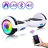 "SISIGAD Hoverboard 6.5"" Self Balancing Scooter with Colorful LED Wheels Lights..."