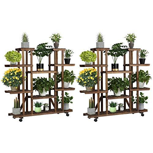 Blumenregal Holz Blumenleiter