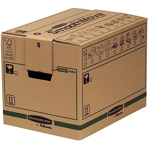 Bankers Box SmoothMove FastFold Umzugskiste (Klein, 40,6 x 30,4 x 30,4 cm) 5er-Pack