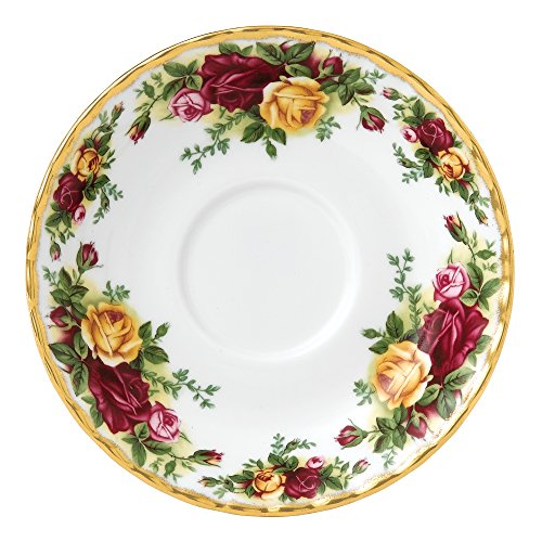 Royal Albert 15210010 Old Country Roses - Plato de té (14 cm), color blanco