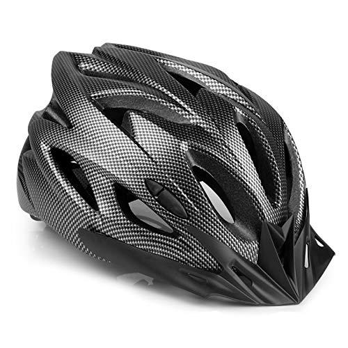 MOKFIRE Casco Bicicleta con Visera, protección de Seguridad Ajustable Casco Ligero para Ciclismo d
