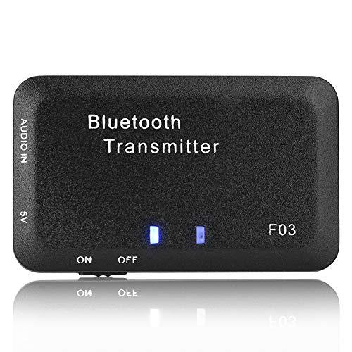 Weikeya Bluetooth Audio Transmisor, Eficaz Adaptador Inalámbrico Música 720 Horas Apoyar Tiempo El plastico 30mA por Televisor/Ordenador Personal / MP3