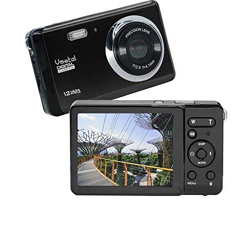 Vmotal GDC80X2 Mini Compact Digitalkamera 12 MP HD TFT LCD Bildschirm Kamera für Kinder/Anfänger/ältere Menschen (Schwarz & Schwarz)