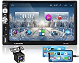 Hikity Radio de Coche 2 DIN Android Navegación GPS 7 Pulgadas 1080P HD Pantalla Táctil FM estéreo del Coche con Enlace de Espejo Bluetooth WiFi USB + Cámara de Visión Trasera