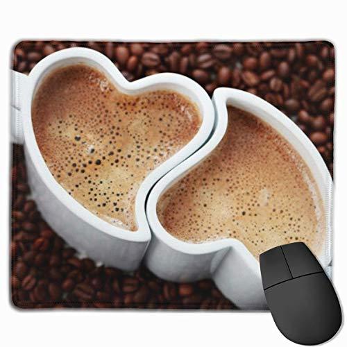 Zwei Kaffee Rechteckige rutschfeste Gaming-Mauspad Tastatur Gummi-Mauspad für Heim- und Büro-Laptops