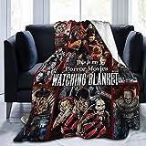Horror Movie Characters Blanket Xmas Halloween Flannel Cozy Plush Blanket