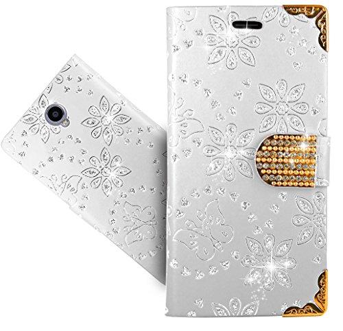 Cubot Max Handy Tasche, FoneExpert® Bling Luxus Diamant Wallet Hülle Flip Cover Hüllen Etui Hülle Ledertasche Lederhülle Schutzhülle Für Cubot Max