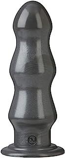Doc Johnson American Bombshell - B-7 Tango - Vac-U-Lock and F Machine Compatible Dildo or Butt Plug - Gunmetal Grey