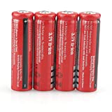 Best 18650 Batteries - 4 Pcs Button Top Batteries 18650 Battery 4000mAh Review