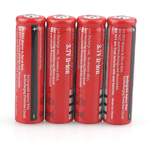 cheap 4 batteries with buttons on the top 18650 battery 4000mAh, high capacity 3.7V rechargeable battery …