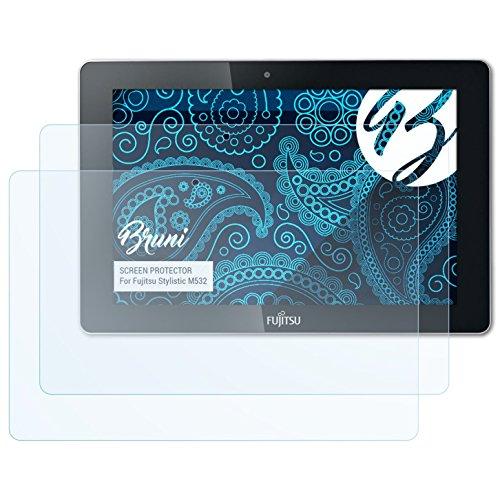 Bruni Schutzfolie kompatibel mit Fujitsu Stylistic M532 Folie, glasklare Bildschirmschutzfolie (2X)