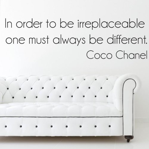 Coco Chanel'In order to irreplaceable.' Pegatinas de pared Vinyl Wall Stickers Decals