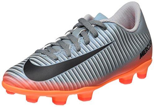 Nike Mercurial Vortex III CR7 FG, Botas de fútbol Unisex niños, (Cool Grey/Mtlc Hematite/Wolf Grey/Total), 34 EU