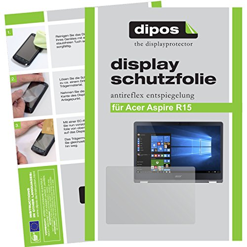 dipos I 2X Schutzfolie matt kompatibel mit Acer Aspire R15 Folie Bildschirmschutzfolie