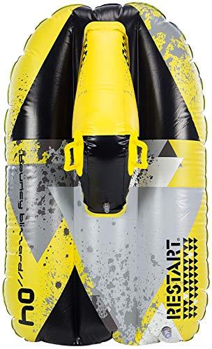 RESTART Luge gonflable scooter des neiges - Taille unique - Noir gris et jaune