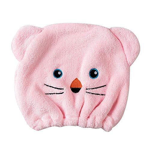 Coloré(TM Cheveux Serviette Microfibre Cheveux Turban Wrap Super Absorbant du Séchage Rapide Pac Hair Towel (Rose)