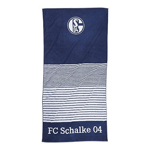 FC Schalke 22614 Handtuch Streifen marine