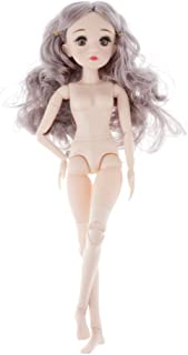 Toygogo Flexible 1/4 BJD Nude Doll Body, 45CM Female Action Figures Model, Great for Doll DIY Making - Applicable for LUTS Kid、DOC Custom Use