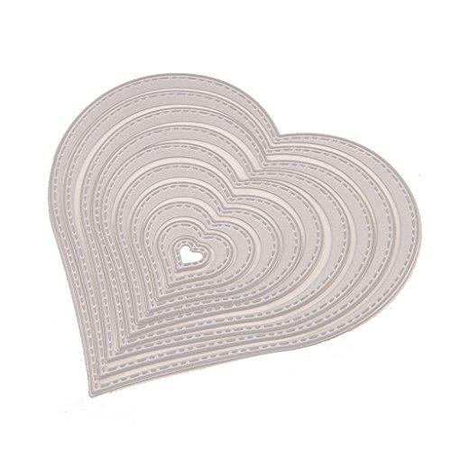 forma de corazón Troqueles de corte Plantilla de plantilla de Punch gofrado de metal para Scrapbooking Álbum de bricolaje Foto Tarjetas de papel Arte Suministros para manualidades