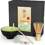 Aricola Matcha-Set 3-teilig sommergrün, bestehend aus Matcha-Schale, Matcha-Löffel und Matcha-Besen (Bambus) in Geschenkbox. Original