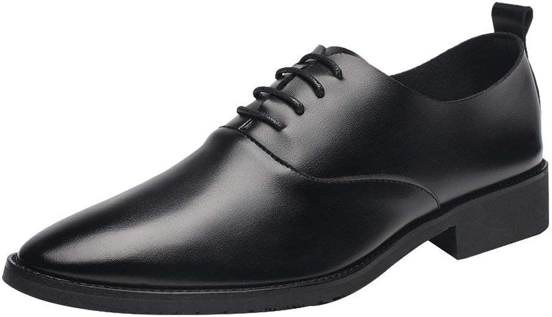 FuweiEncore 2018 Männer Low Top Top Top Schuhe Casual Matte PU Leder Loafers Lace up Breathable Spitz Toe Oxfords Schwarz (Farbe   Schwarz, Größe   41 EU) (Farbe   Schwarz, Größe   42 EU)  e33e5e
