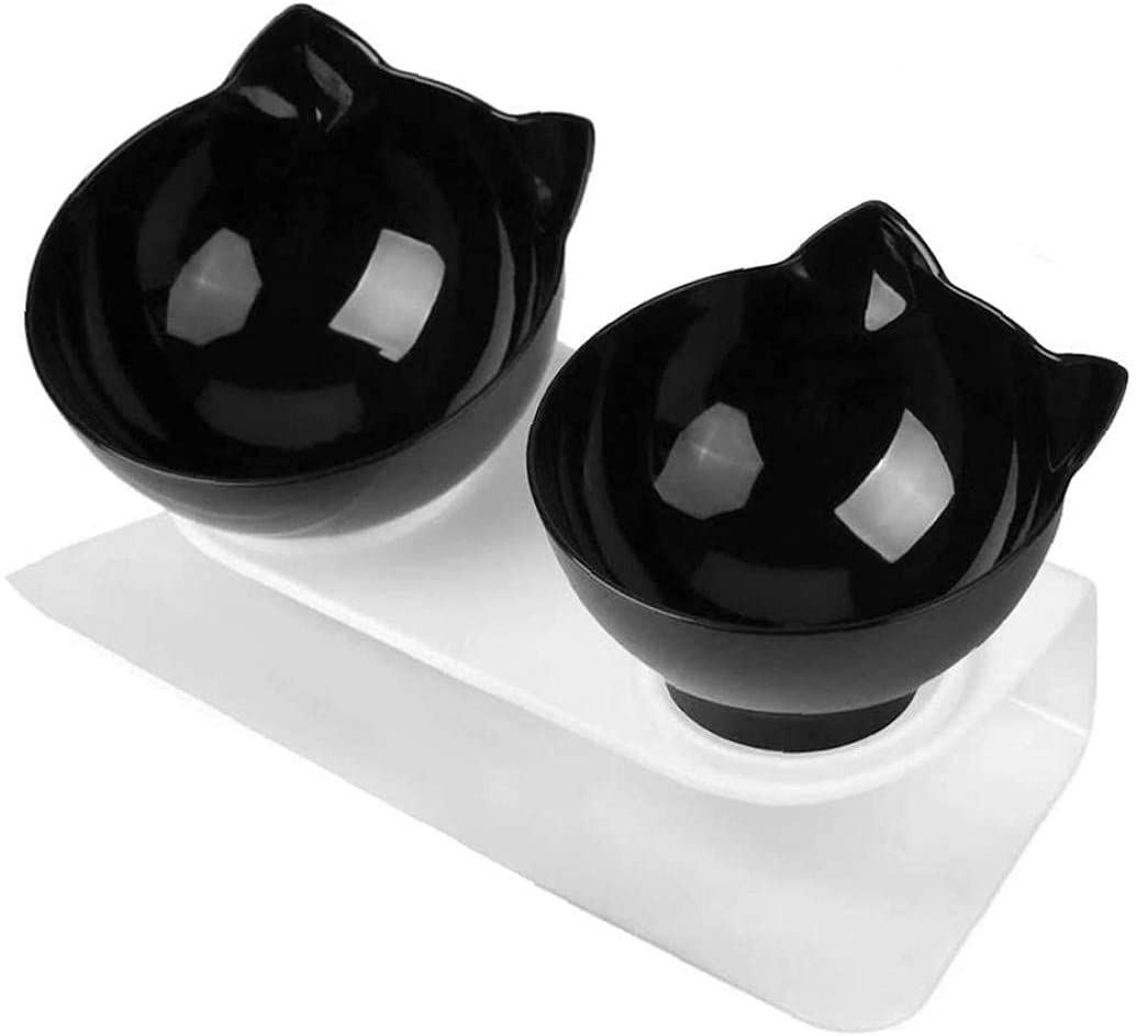 Hainice Cat cheap Bowl Food Feeding Raised Double Platform Outlet ☆ Free Shipping Tilted