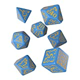 Q WORKSHOP Pathfinder Ruins of Azlant Rpg Ornamented Dice Set 7 Polyhedral Pieces