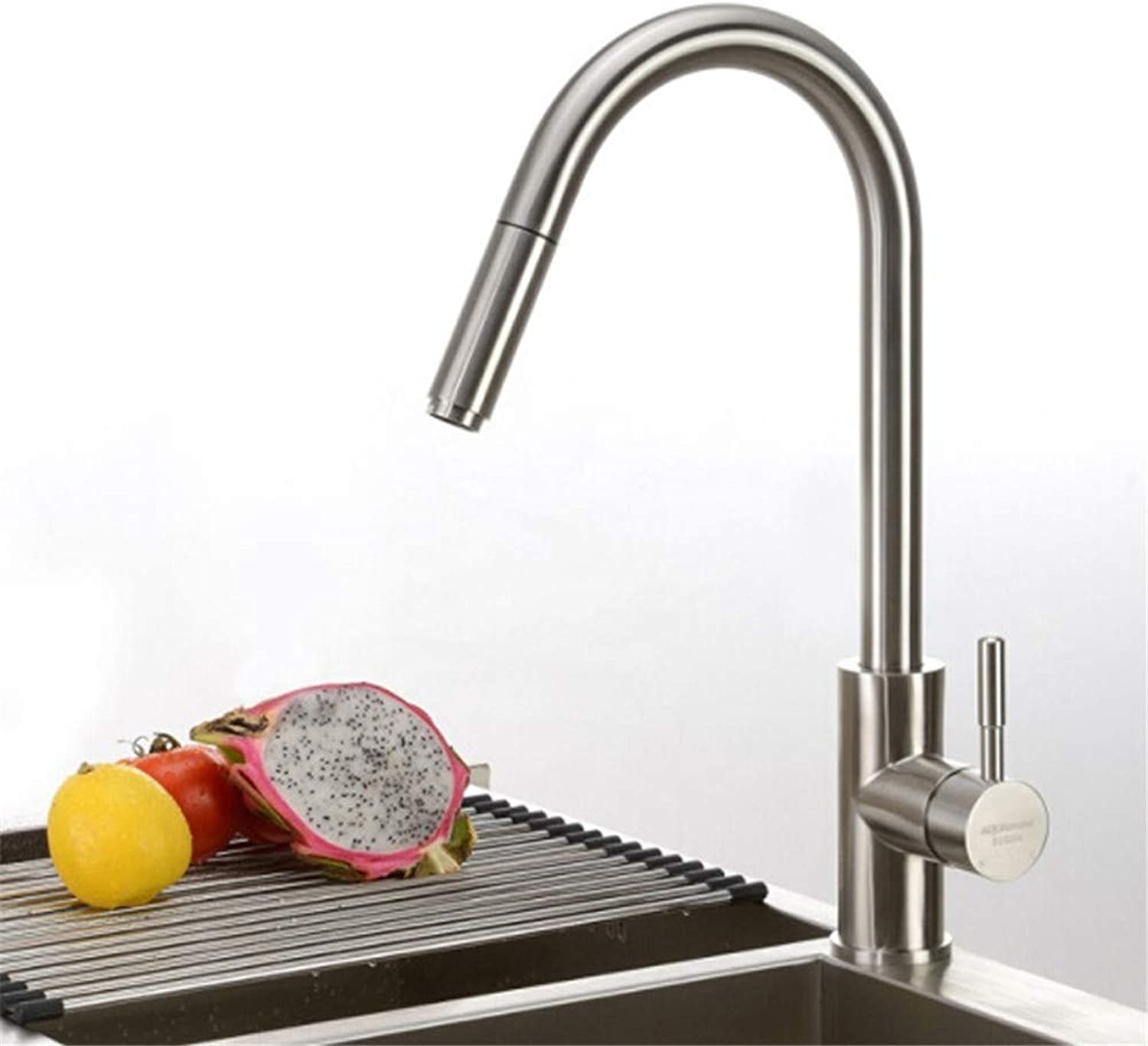 Decorry 304 Stainless Steel Faucet Kitchen Sink Faucet Pull-Out Multi-Purpose Water Caipen LeaderS65-UE6589321592