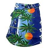 Casual style dog shirt features fun colorful Hawaiian print pet shirt a tropical island flair.