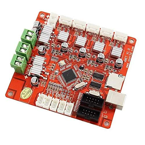 Panjianlin 3D Printer mainboard RepRap 3D Prusa Imprimante Anet V1.0 3D Printer Mainboard Une Meilleure Dissipation de la Chaleur (Color : Orange, Size : One Size)