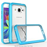 Galaxy Core Prime/Prevail LTE Case, Exact Prism Series - TPU Grip Bumper/Resistant/Protection/Slim-Fit Transparent Bumper Case for Samsung Galaxy Core Prime, Galaxy Prevail LTE Sky Blue/Clear