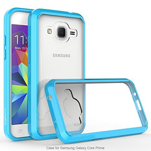Galaxy Core Prime/Prevail LTE Case, Exact Prism Series - TPU Grip Bumper/Resistant/Protection/Slim-Fit Transparent Bumper Case for Samsung Galaxy Core Prime, Galaxy Prevail LTE Sky Blue/Clear