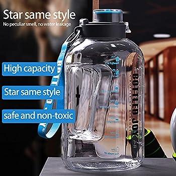 BOTTLED JOY Grande bouteille d'eau 1,5 l sans BPA Anti-fuite Bouteille de sport avec marqueur motivant pour le fitness, le bureau, les voyages, le camping, l'escalade - Blanc