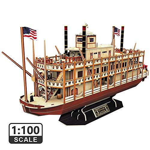 CubicFun Puzzle 3D Mississippi Steamboat Model Rompecabezas